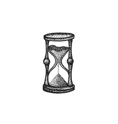 hand drawn sandglass vector image