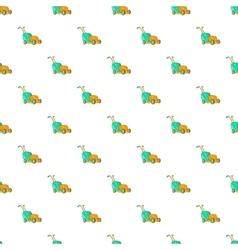 Lawnmower pattern cartoon style vector