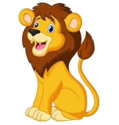 Lion cartoon sitting vector image vector image