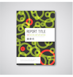 Modern abstract brochure design template vector