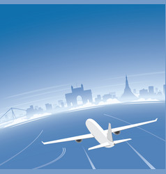 mumbai skyline flight destination vector image