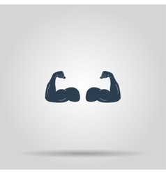 Muscle Icon concept for vector image vector image