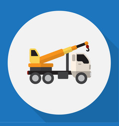 Of vehicle symbol on crane vector