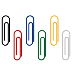 paper clips for fastening papers vector image vector image
