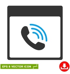 Phone call calendar page eps icon vector