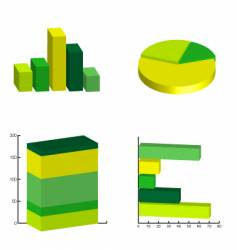 Pie charts vector