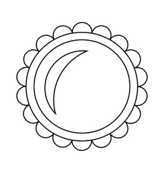 Pie icon in outline style vector image