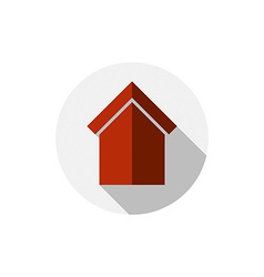 Real estate icon abstract house depiction property vector