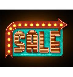 Retro sale banner vector