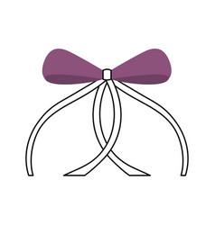 Ribbon bow ballet decoration ornament vector