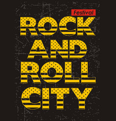 rock n roll festival vector image