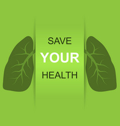 Save your health vector