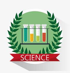 Science test tube school supplies vector