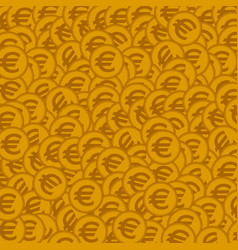 Seamless background with golden coins vector