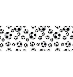 Seamless football balls vector image