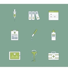 Set of medical icons Healthcare system concept vector image