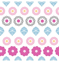 Vibrant floral stripes seamless pattern background vector