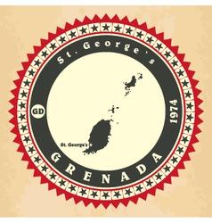 Vintage label-sticker cards of Grenada vector image vector image