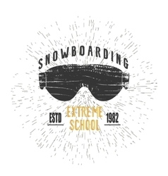 Vintage snowboarding or winter sports badge vector image