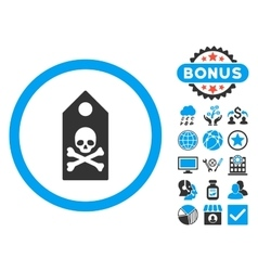 Death mark flat icon with bonus vector