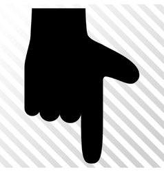 Hand pointer down icon vector