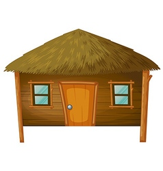 Bungalow made of woods vector