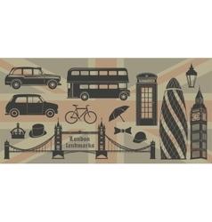 London landmarks britain symbols isolated vector