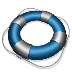 Marines blue life buoy vector