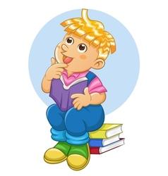 Child thinking vector