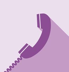 Telephone icon vector
