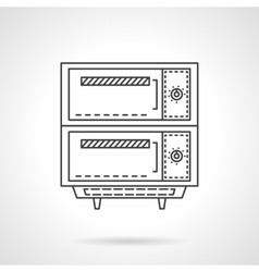 Electric bakery oven thin line design icon vector