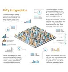 Urban infographics city vector