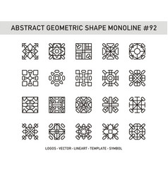 Abstract geometric shape monoline 92 vector