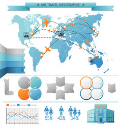 Air summer travel infographic concept vector