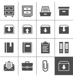 Archive icons vector image