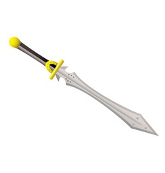 Big metal sword vector