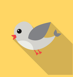 bird flat icon for web and mobile vector image vector image