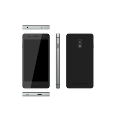 Black smartphone on a white background vector image