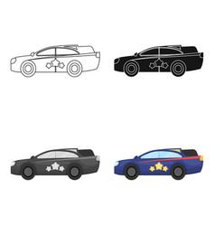 Car single icon in cartoon stylecar vector