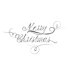 Christmas lettering in victorian calligraphy style vector