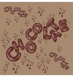 dark chocolate logo design 3d letters vector image