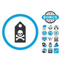 Death Mark Flat Icon with Bonus vector image