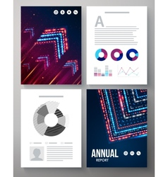 Dynamic template for an annual report vector image vector image
