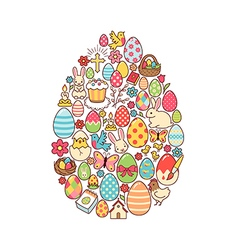 Easter egg symbol vector