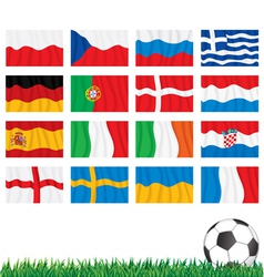 Euro 2012 Flags vector image vector image