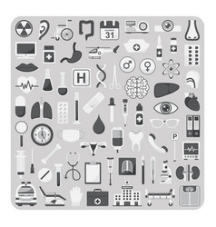 flat icons medical set vector image vector image
