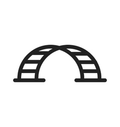 Half Round Monkey Bar vector image