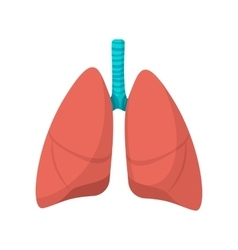 Human lungs cartoon icon vector