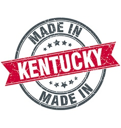 Made in kentucky red round vintage stamp vector