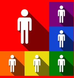 Man sign set of icons with vector